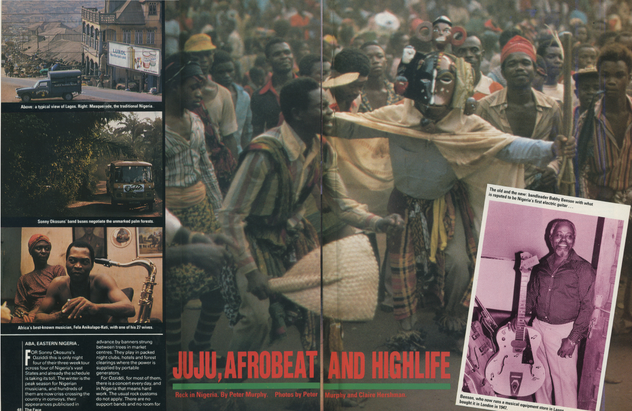 The Face / Juju, Afrobeat And Highlife / Test Pressing
