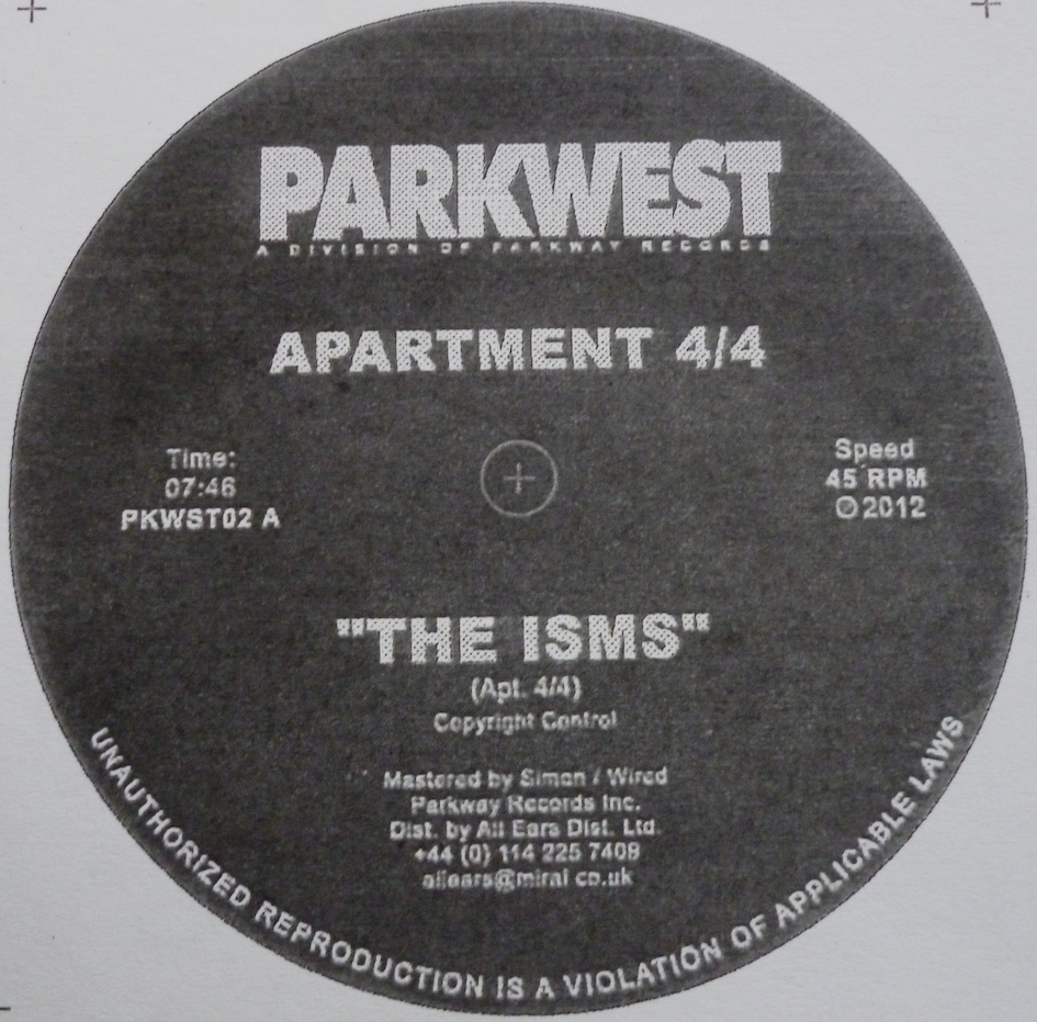 Test Pressing, Reviews, Promo`d, Dr Rob, Apartment 4/4, Parkway, Parkwest, Mark Seven, Jus`Wax, The Isms,