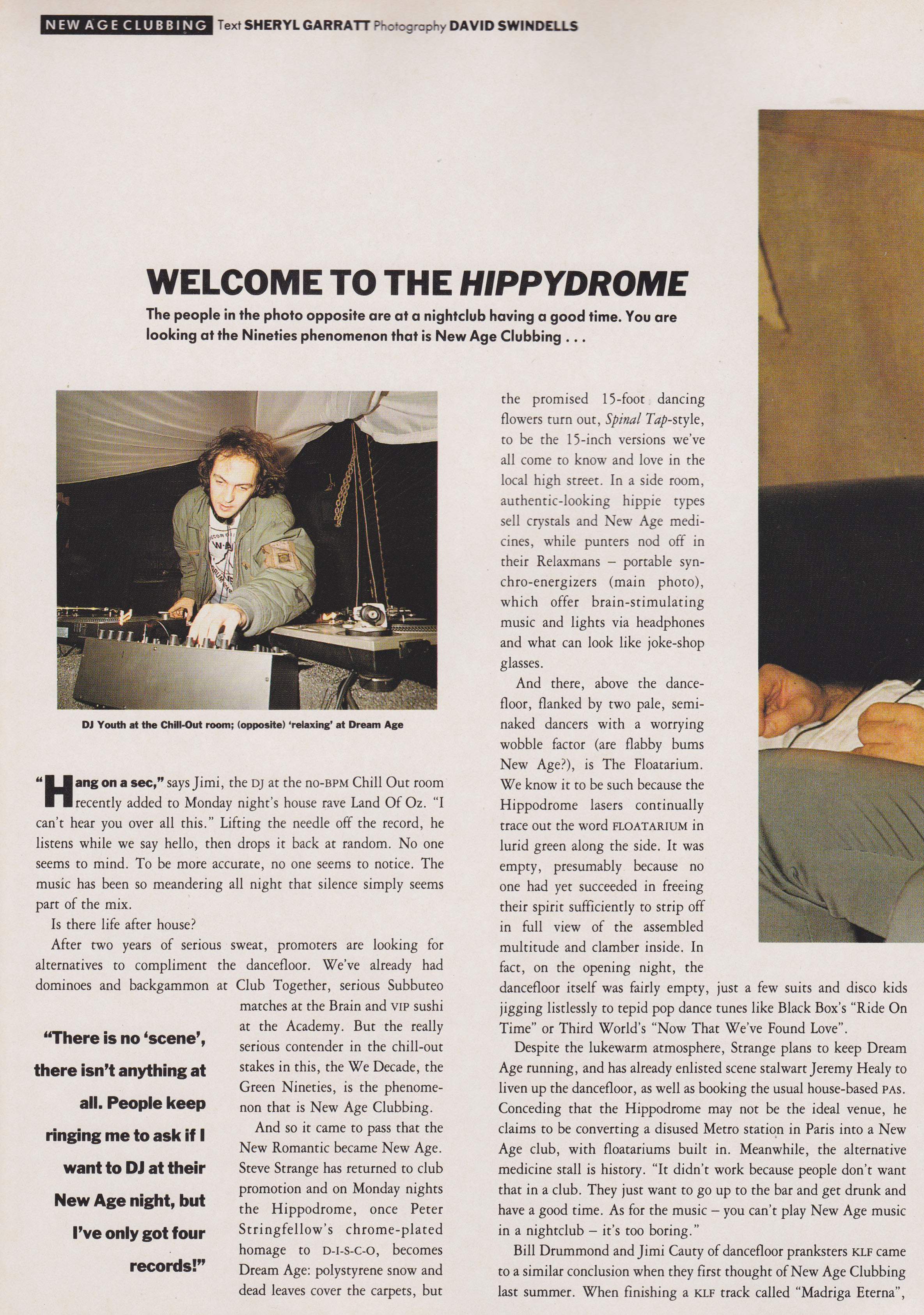 Welcome To The Hippydrome, The Face, February, 1990, Sheryl Garratt, Dave Swindells, The KLF, The Orb, Jimi Cauty, New Age Clubbing