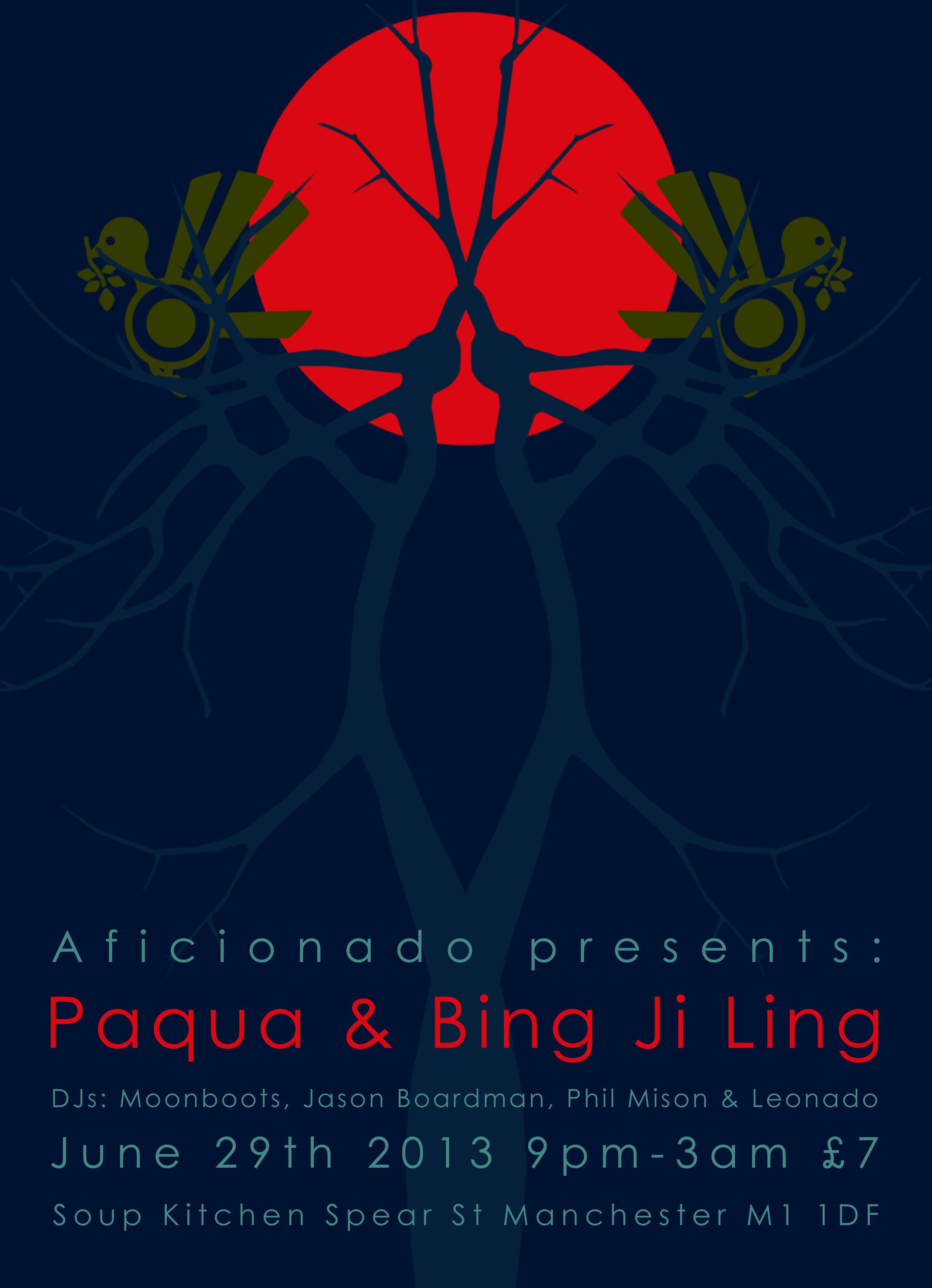 Paqua, Bing Ji Ling, Aficionado, Live, Moon, Mison, Baordman