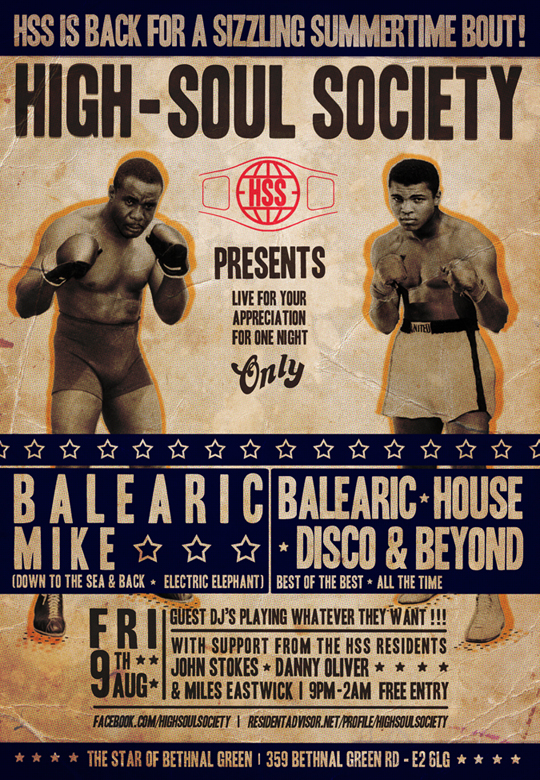 High Soul Society, Balearic Mike, Party