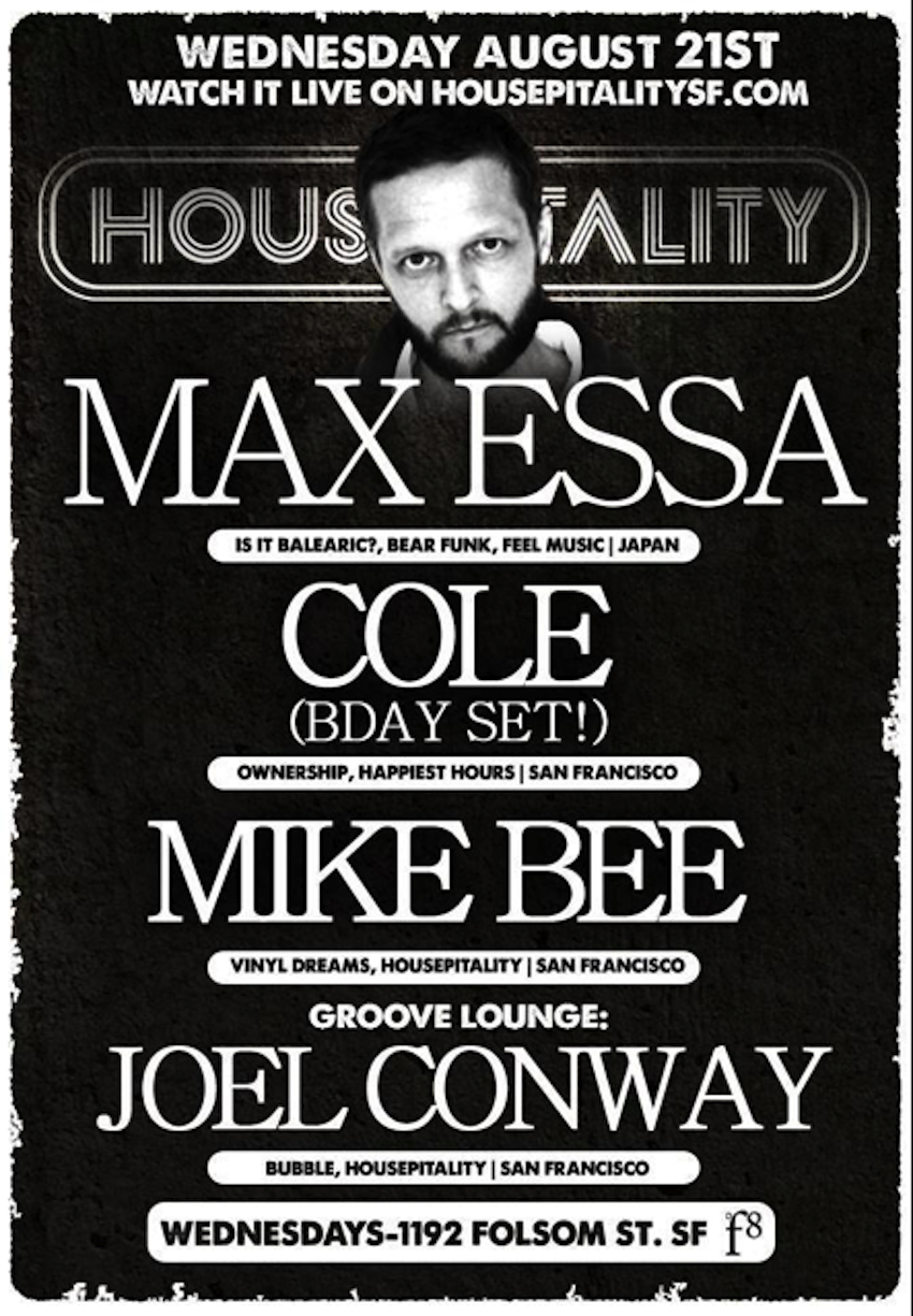 Test Pressing, Where Is The Party At? Dr Rob, Max Essa, Housepitality, San Francisco