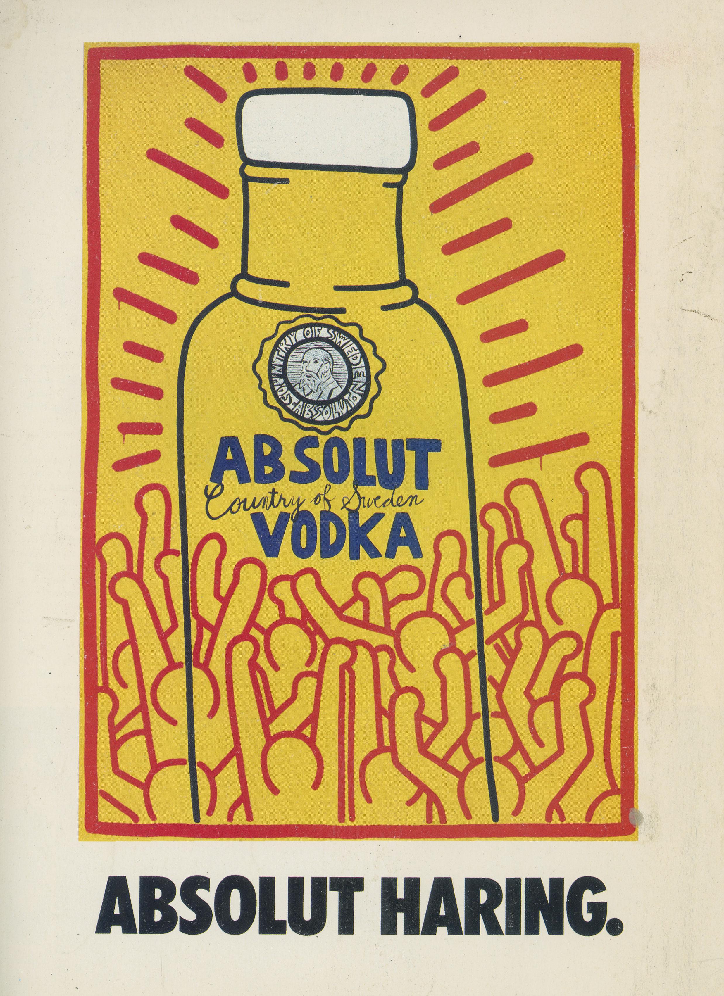Keith Haring, Test Pressing, Absolut, Vodka, Advert,