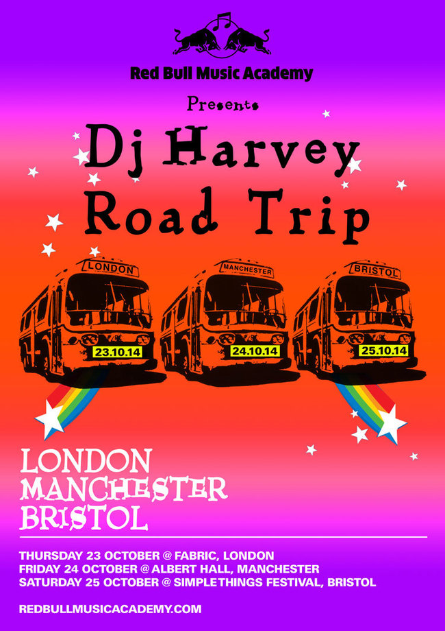 Dj Harvey, Road Trip, Red Bull, London, Bristol, Manchester