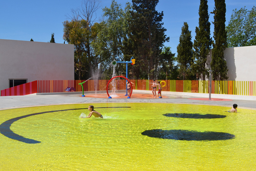smiley swimming pool, A2 Architects, Majorca, Hotel Castell Dels Hams, Test Pressing