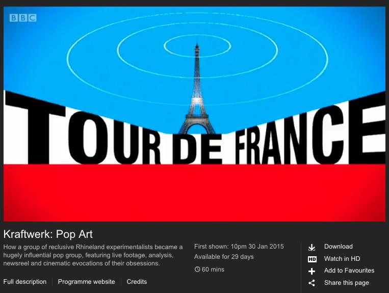 Derrick May, François Kevorkian, Paul Morley, Kraftwerk, BBC, iPlayer, documentary