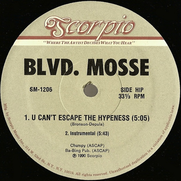 Test Pressing, Review, Blvd. Mosse, Dr Rob, Out Of The Box, U Can`t Escape The Hypeness, Scorpio
