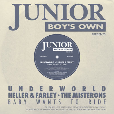 Underworld, Farley & Heller, Baby Wants To ride, Frankie Knuckles , Fun, Aids Charity, Elton John,