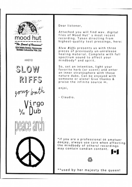 Test Pressing, Dr Rob, Review, Mood Hut, Slow Riffs, Gong Bath
