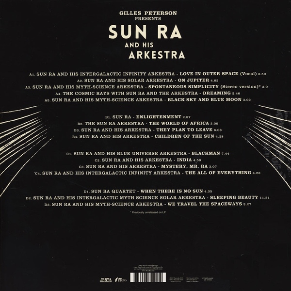 Review, Test Pressing, Dr Rob, El Saturn, Gilles Peterson Presents, Sun Ra, Arkestra, To Those Of Earth And Other Worlds, Strut, Art Yard