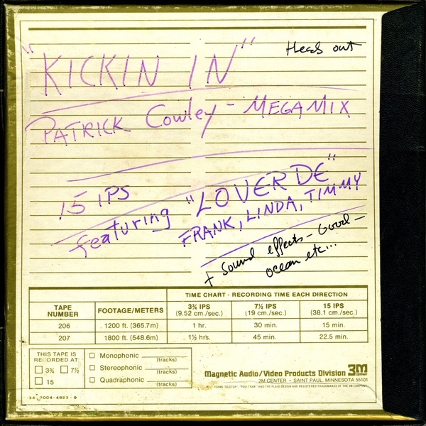 Test Pressing, Dr Rob, San Francisco, Patrick Cowley, Kickin` In, Honey Soundsystem, Dark Entries