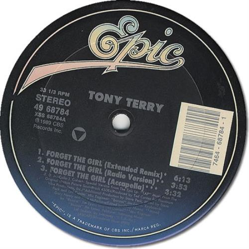 Tony Terry, Forget The Girl, Epic, Steven Hall, 7 of 7