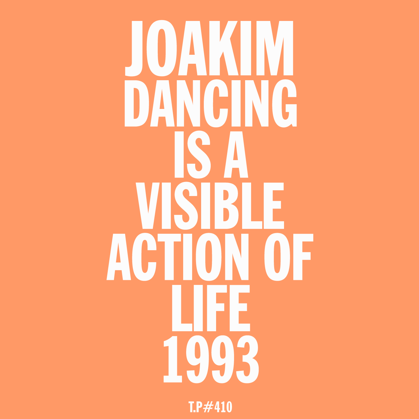 Joakim, 1993, DANCINGISAVISIBLEACTIONOFLIFE, MIX, TEST PRESSING