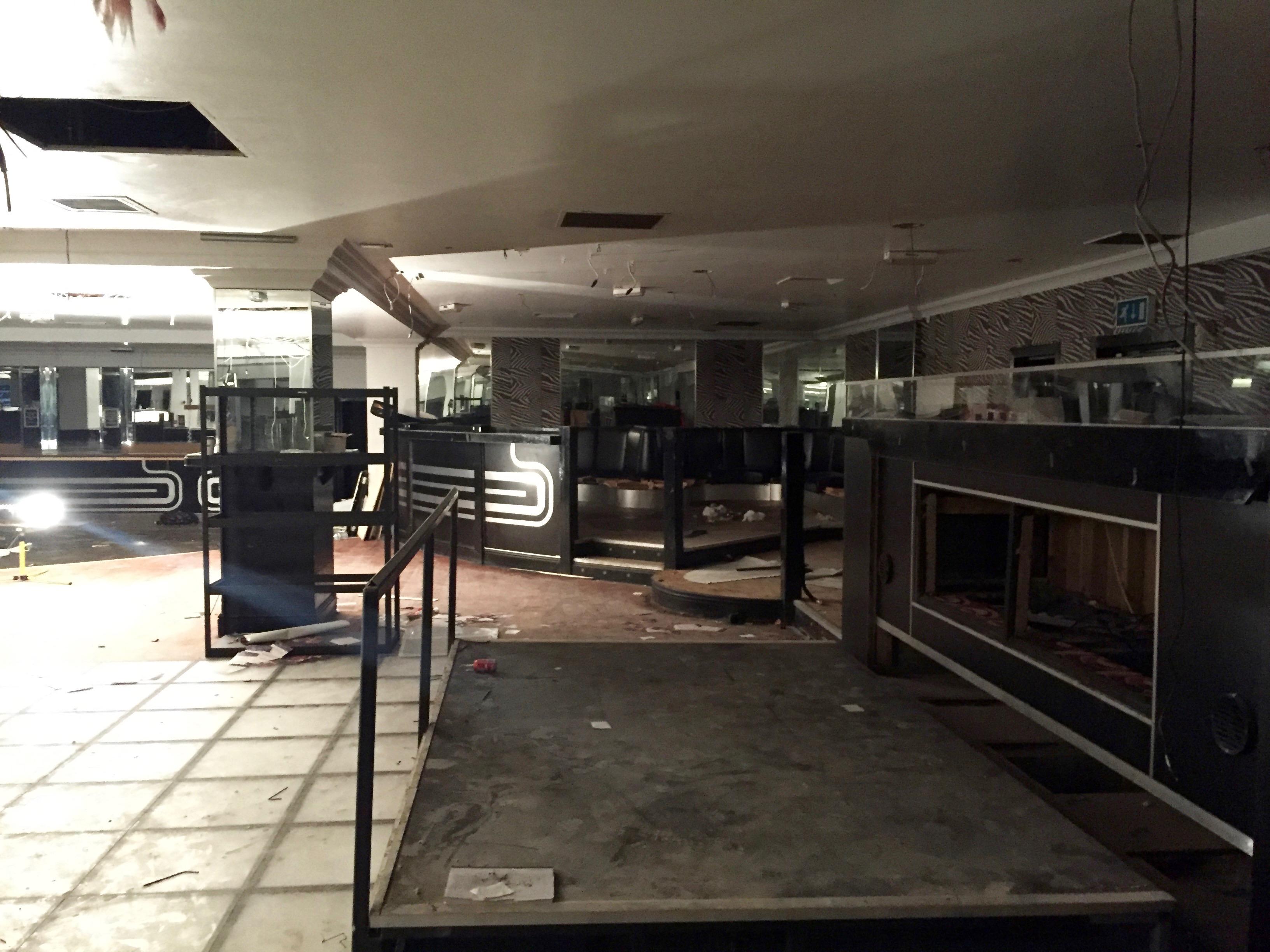 Panache, nightclub, Bristol, abandoned, Test Pressing