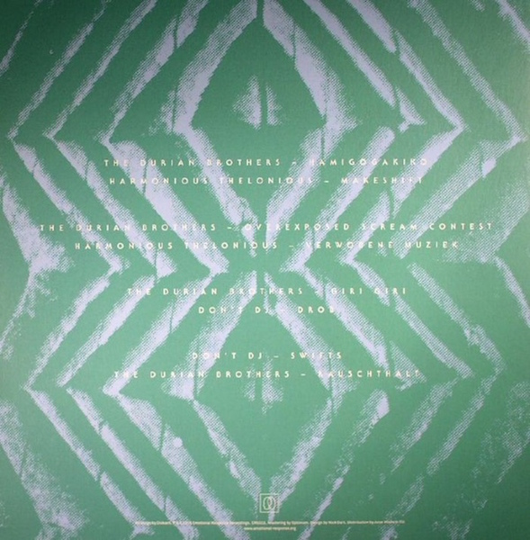 Harmonious Thelonious, Stefan Schwander, Don't DJ, Florian Meyer, The Durian Brothers, Marc Matter, Dusseldorf, Salon Des Amateurs, Diskanted, Diskant, Emotional Response