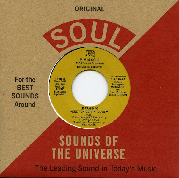 Test Pressing, Dr Rob, Le Frank O`, Keep On Gettin` Down, Soul Jazz, Sounds Of The Universe