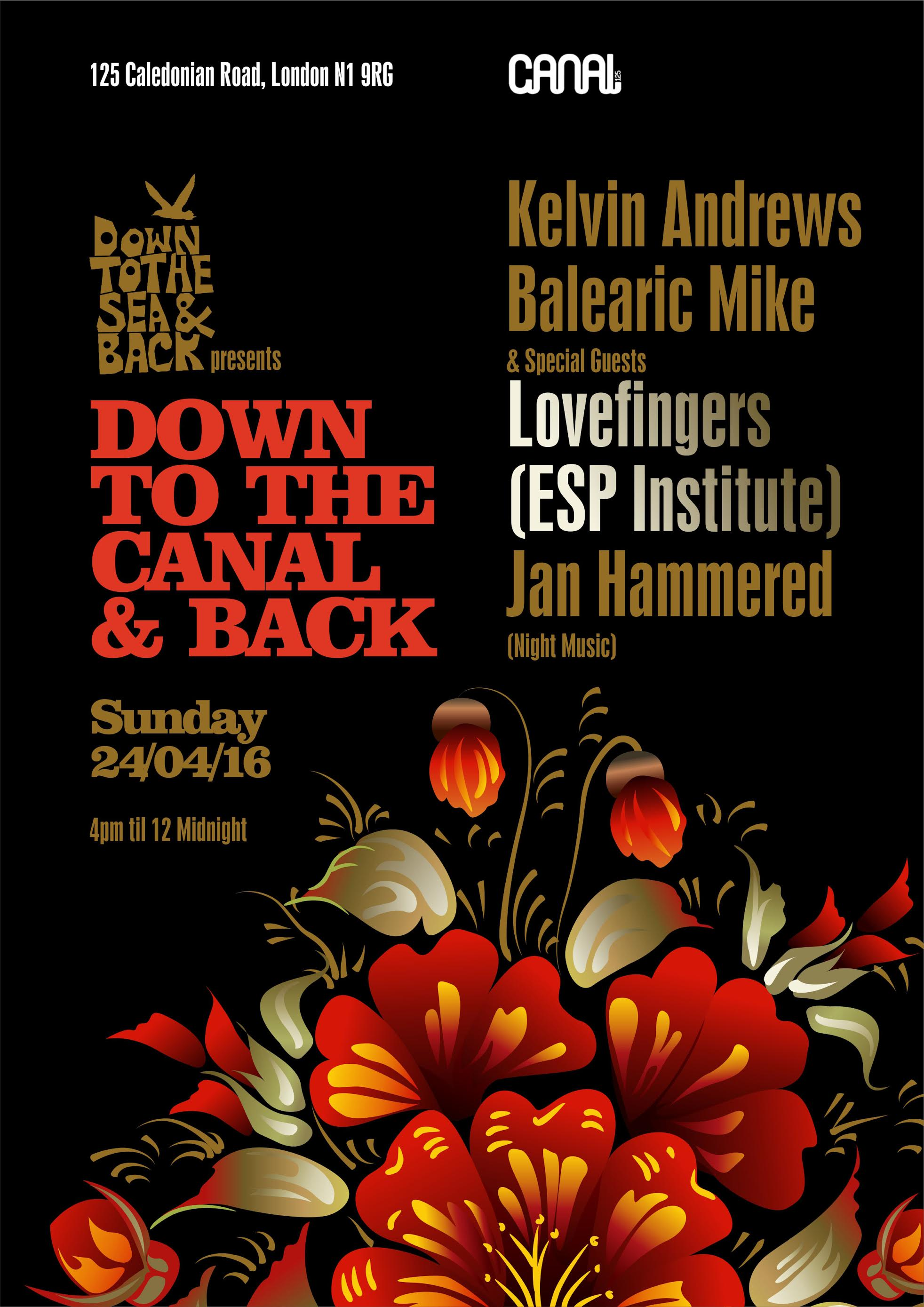 Down To The Canal And Back, Canal, London, Balearic Mike, Kelvin Andrews, Jan Hammered, Lovefingers, Party , London
