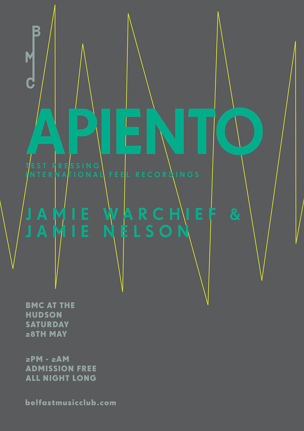 Apiento, Belfast Music Club,