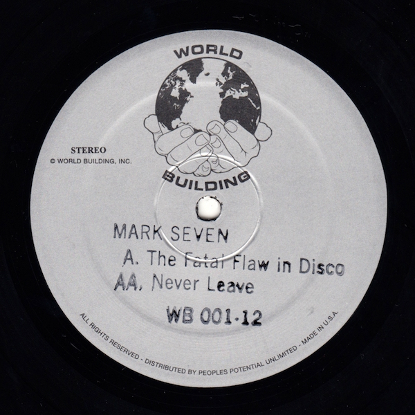 Test Pressing, Dr Rob, Review, World Building, Mark Seven, Ari Goldman, Earcave, Beautiful Swimmers, Jus`Wax, Parkway, Parkwest, The Fatal Flaw In Disco