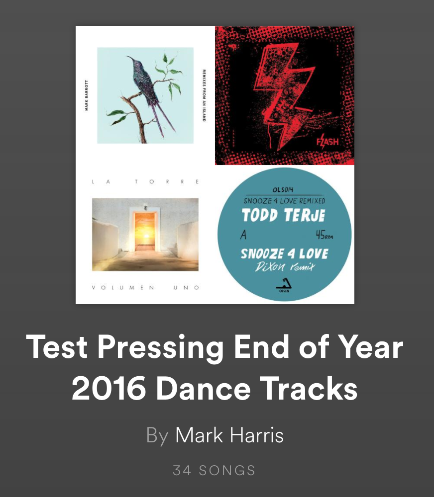 TEST PRESSING, END OF YEAR, PLAYLISTS, SPOTIFY