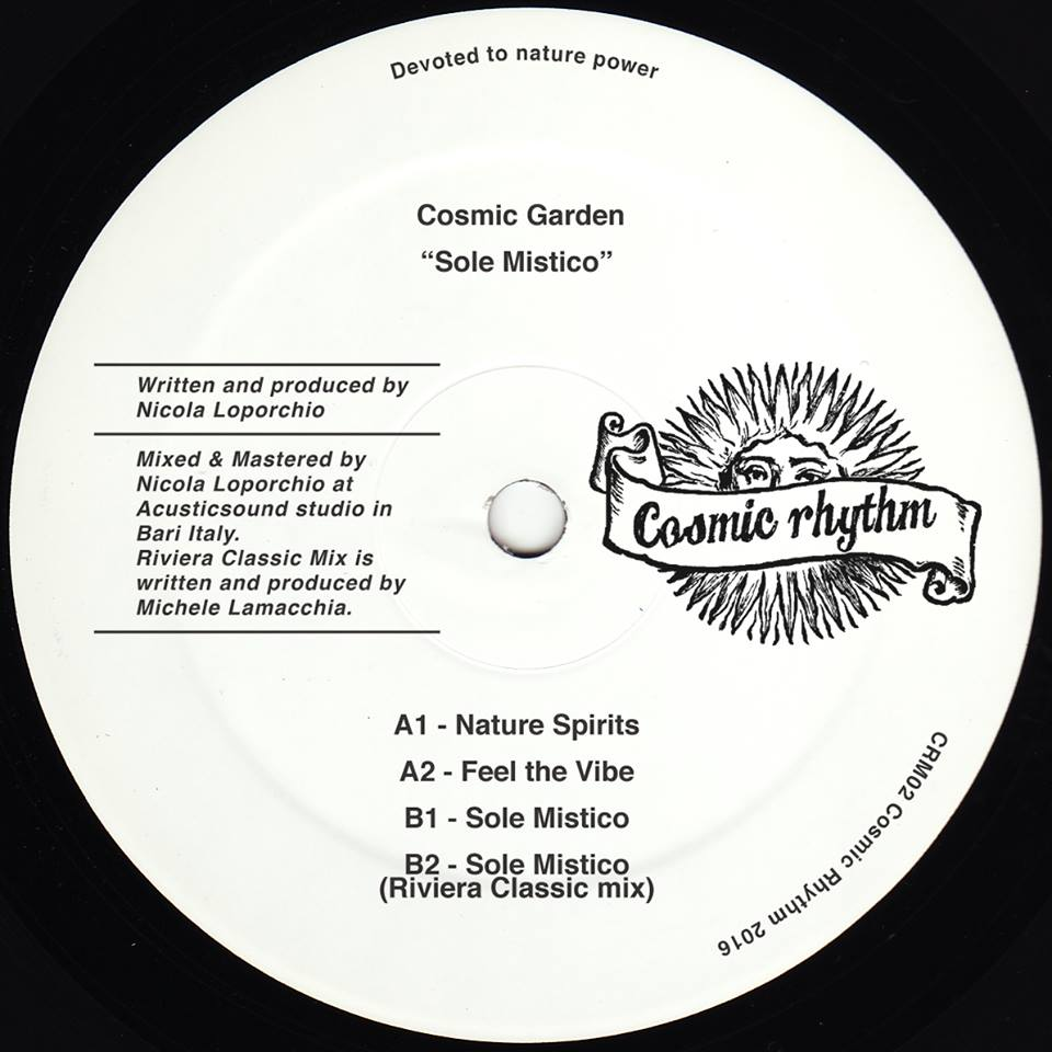 Cosmic Rhythm Records, Rhythm Of Paradise, Label, Italy, House, Test Pressing, Cosmic Garden