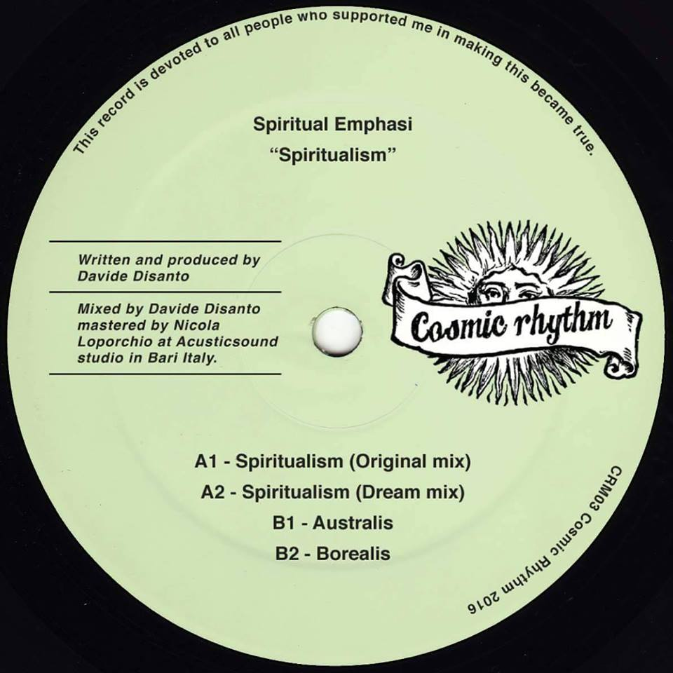Cosmic Rhythm Records, Rhythm Of Paradise, Label, Italy, House, Test Pressing, Cosmic Garden, Spiritual Emphasi,