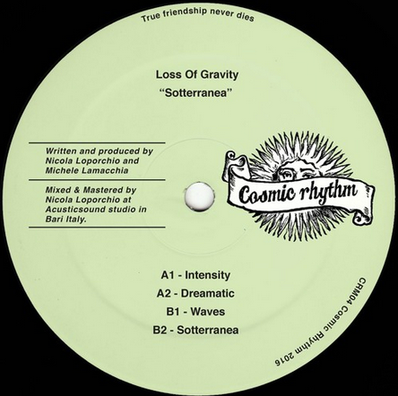 Cosmic Rhythm Records, Rhythm Of Paradise, Label, Italy, House, Test Pressing, Cosmic Garden, Spiritual Emphasi, Loss Of Gravity