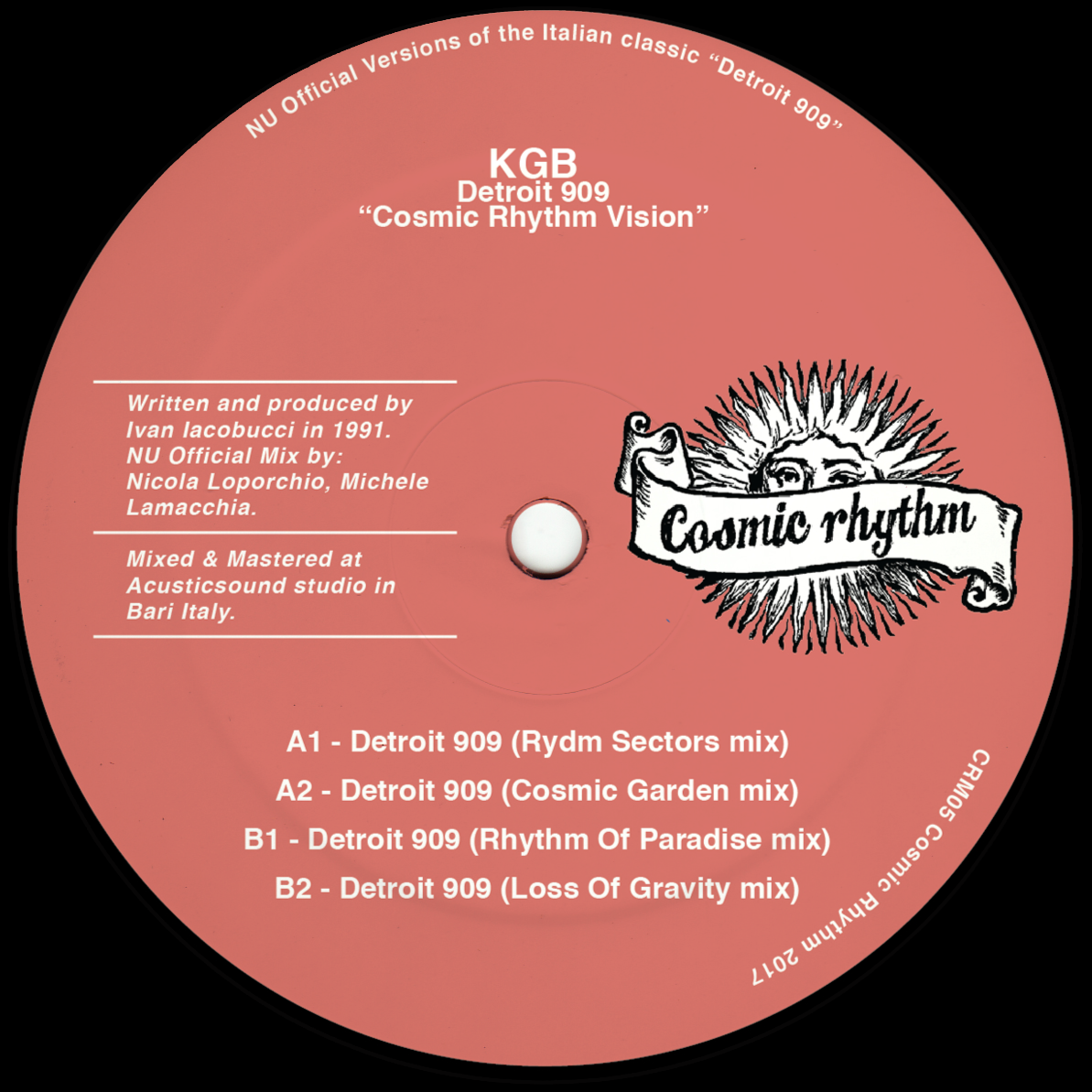 Cosmic Rhythm Records, Rhythm Of Paradise, Label, Italy, House, Test Pressing, Cosmic Garden, Spiritual Emphasi, Loss Of Gravity, KGB