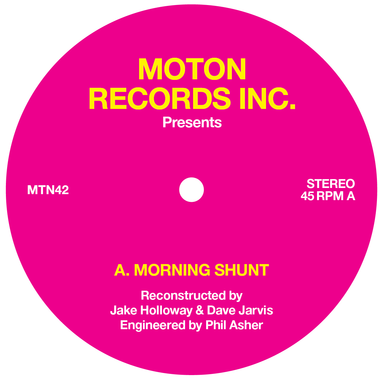 Moton, Morning Shunt, Dave Jarvis, Jake Holloway, Review, Test Pressing