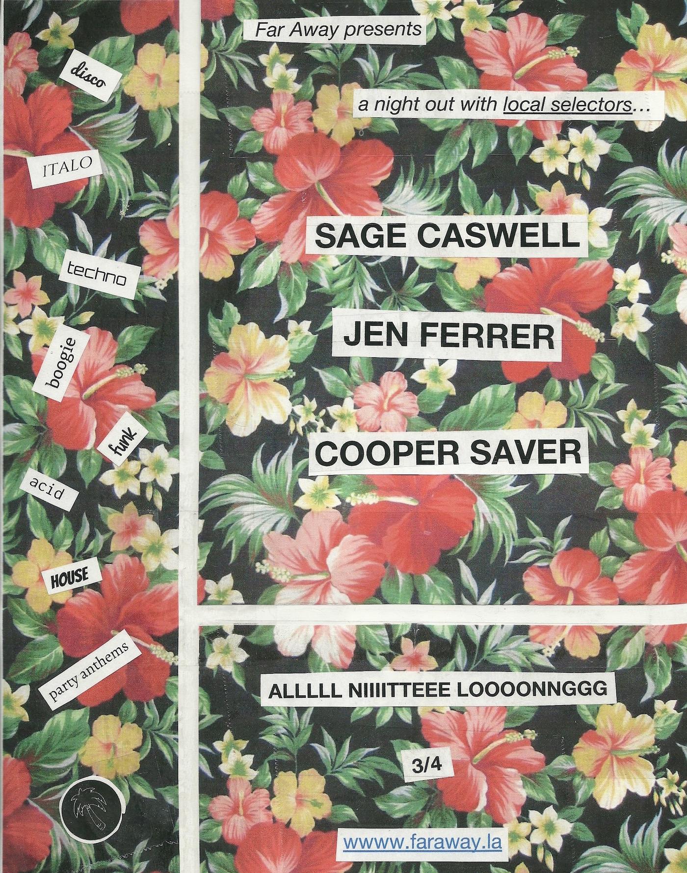 Cooper Saver, Far Away, Parties, LA, DJ, Mix, Test Pressing, 2018, Party
