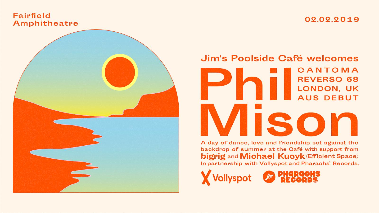 Phil Mison. Australia, Jim's Poolside Cafe, Cafe Del Mar, Sydney, Melbourne, Australia