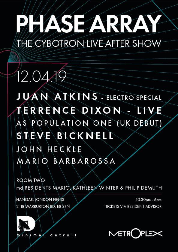 cybotron, aftershow, party, juan atkins, dj