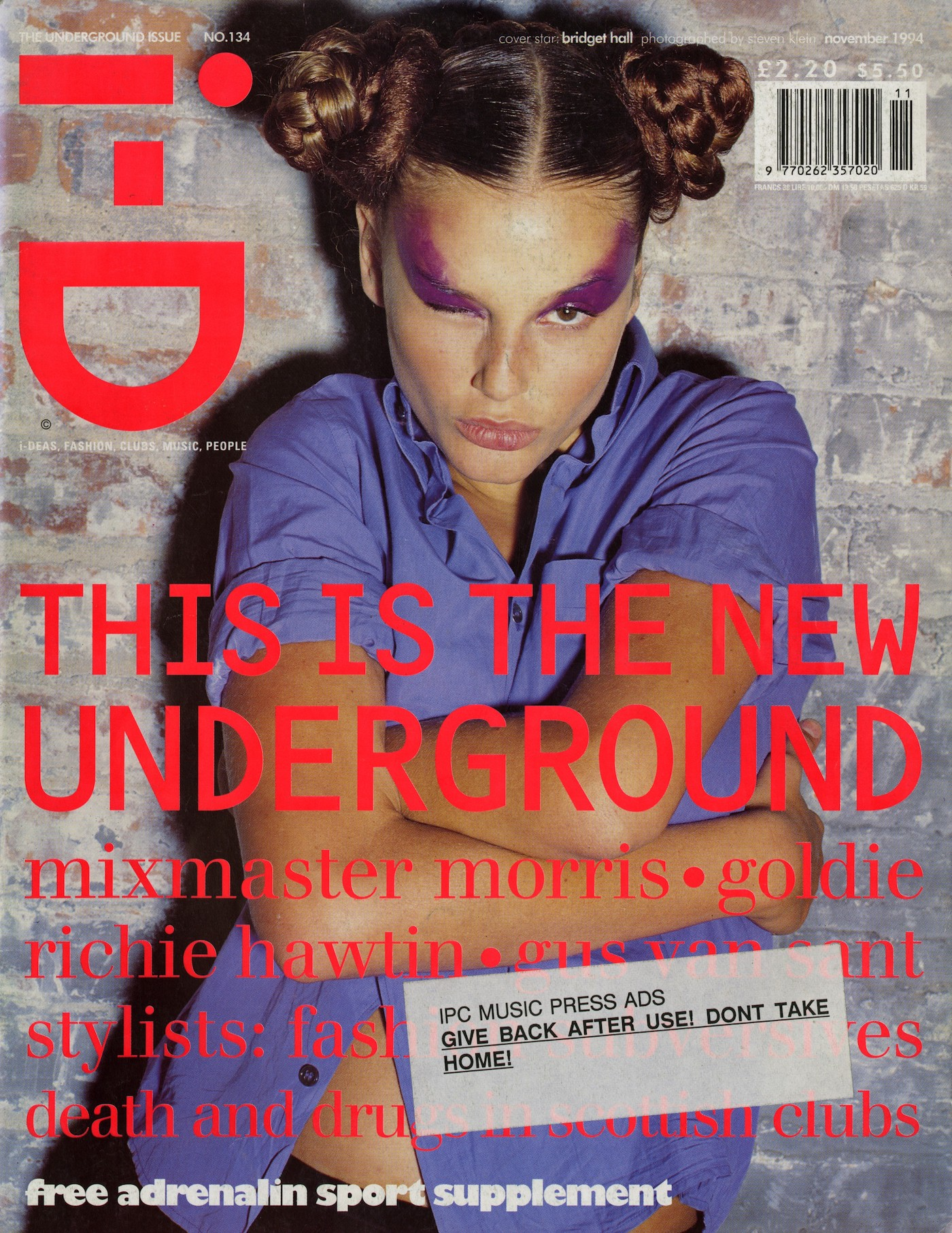 Danny Tenaglia, DJ of the month, I-D Magazine, Bethan Cole, American DJ, Early press, Classic, House, Heroes, Test Pressing