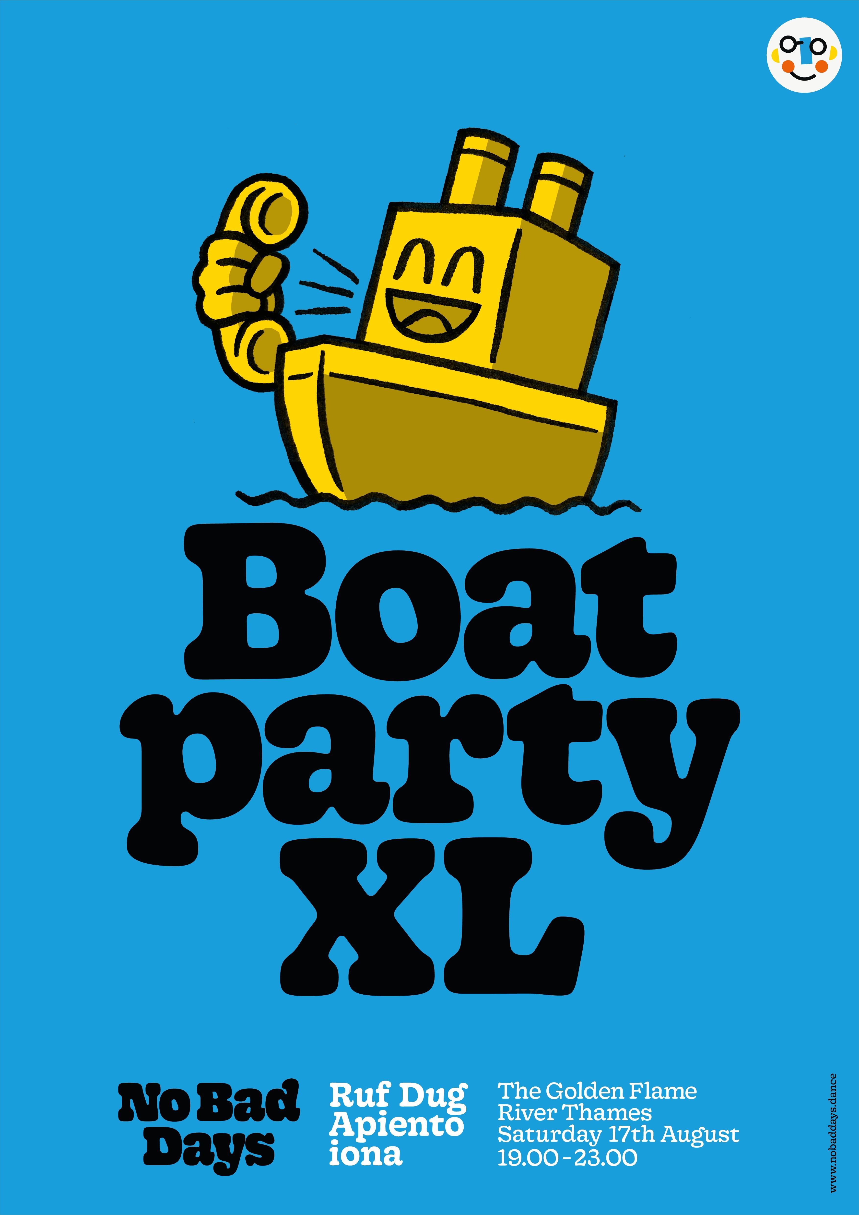 apiento, boat party, dj, iona, XL, No Bad Days